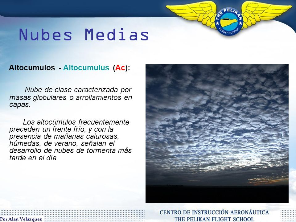 Nubes Medias Altocumulos - Altocumulus (Ac):