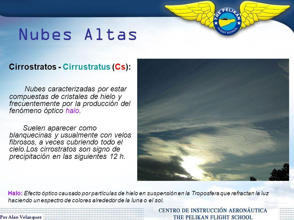 Nubes Altas Cirrostratos - Cirrustratus (Cs):