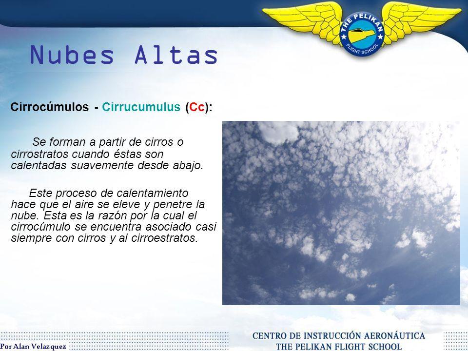 Nubes Altas Cirrocúmulos - Cirrucumulus (Cc):