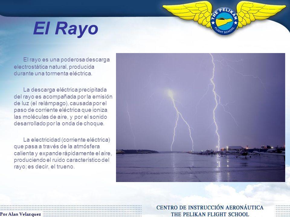 El Rayo El rayo es una poderosa descarga electrostática natural, producida durante una tormenta eléctrica.