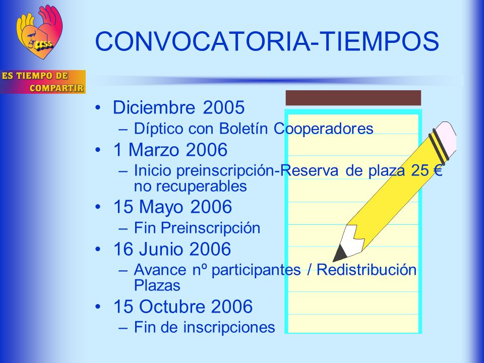 CONVOCATORIA-TIEMPOS