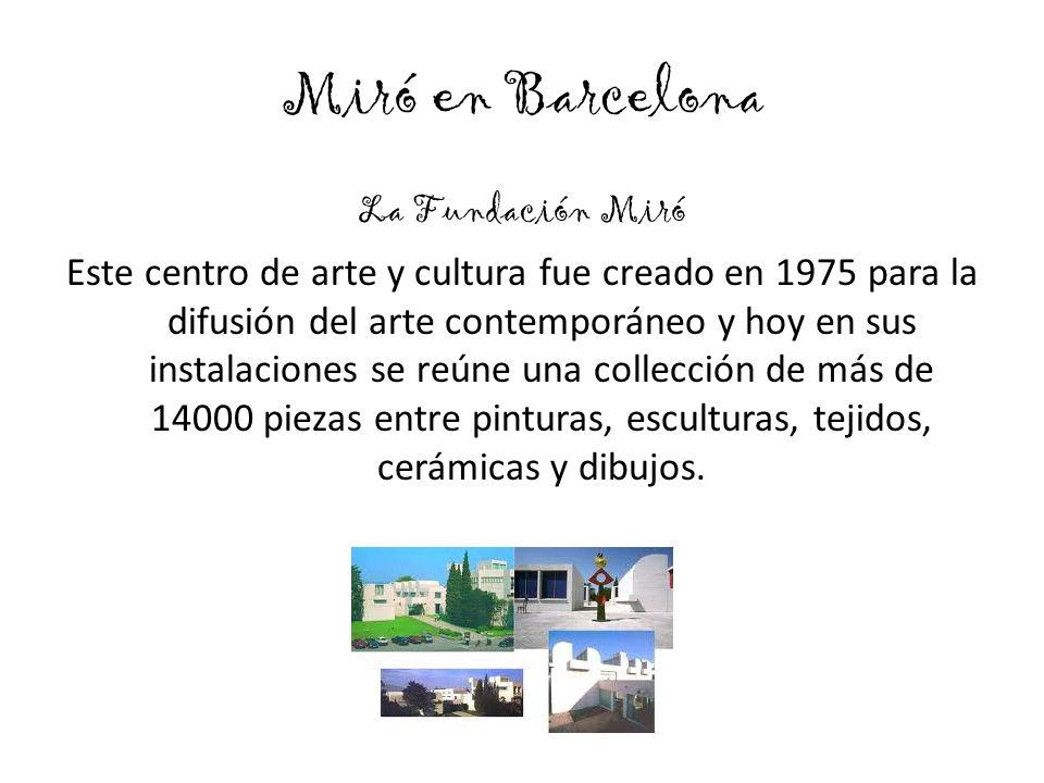 Miró en Barcelona
