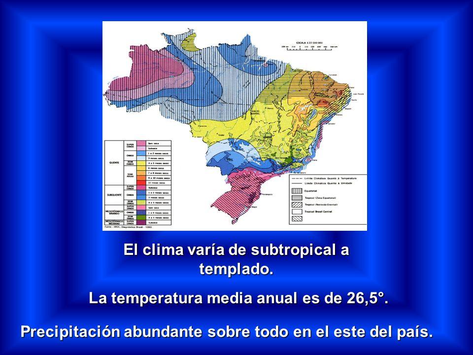 El clima varía de subtropical a templado.