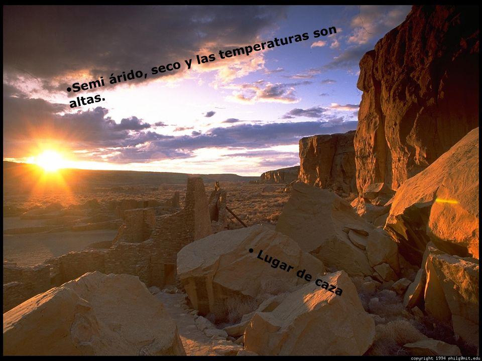 Gran Chaco Semi árido, seco y las temperaturas son altas.