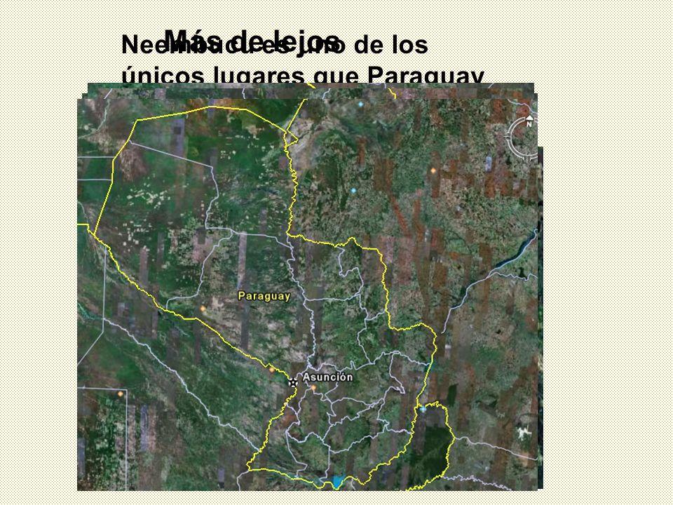 Más de lejos Neembucu es uno de los únicos lugares que Paraguay tiene relieve montañoso.