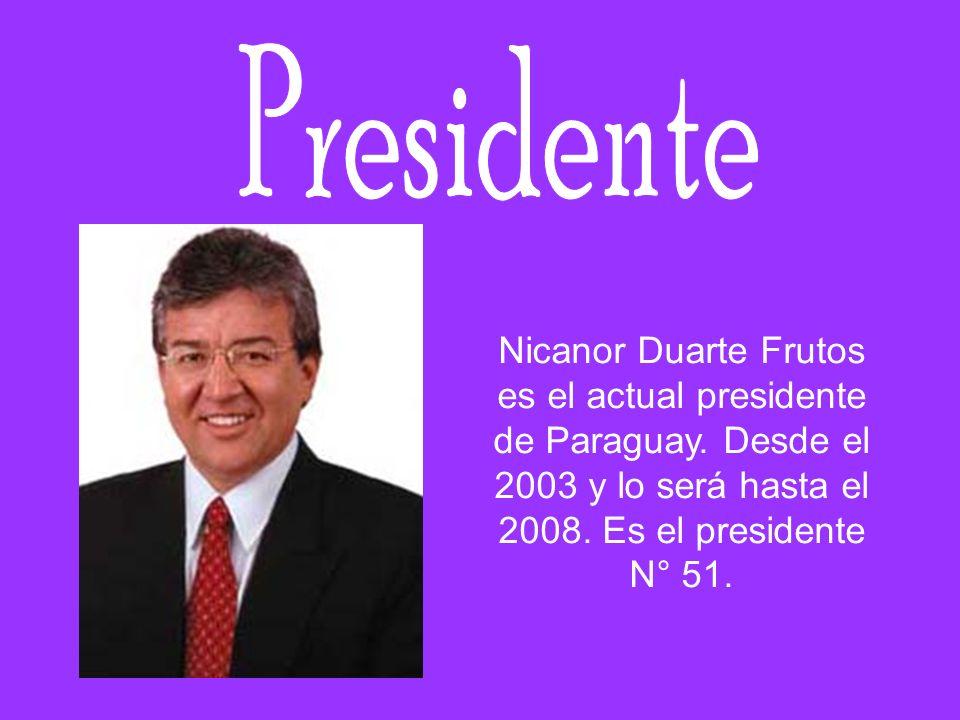 Presidente Nicanor Duarte Frutos es el actual presidente de Paraguay.