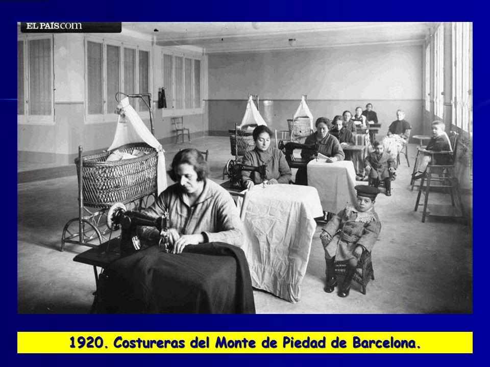 1920. Costureras del Monte de Piedad de Barcelona.