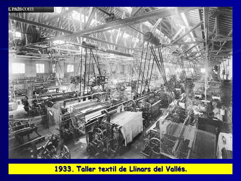 1933. Taller textil de Llinars del Vallés.