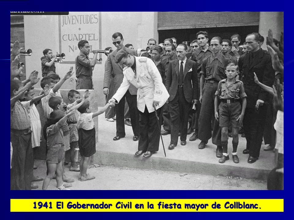 1941 El Gobernador Civil en la fiesta mayor de Collblanc.