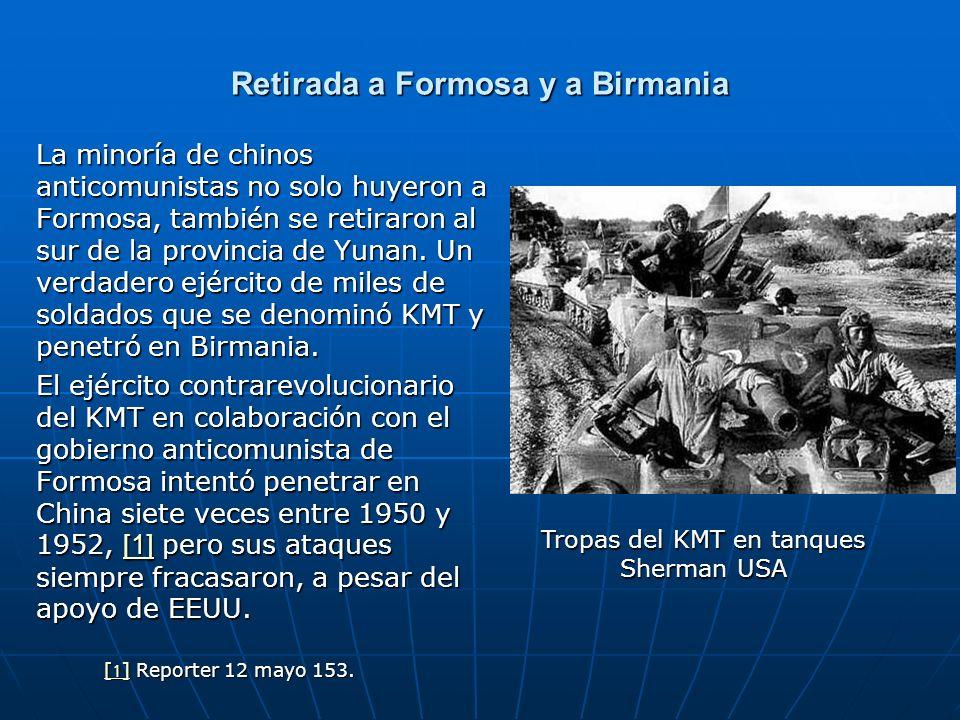 Retirada a Formosa y a Birmania