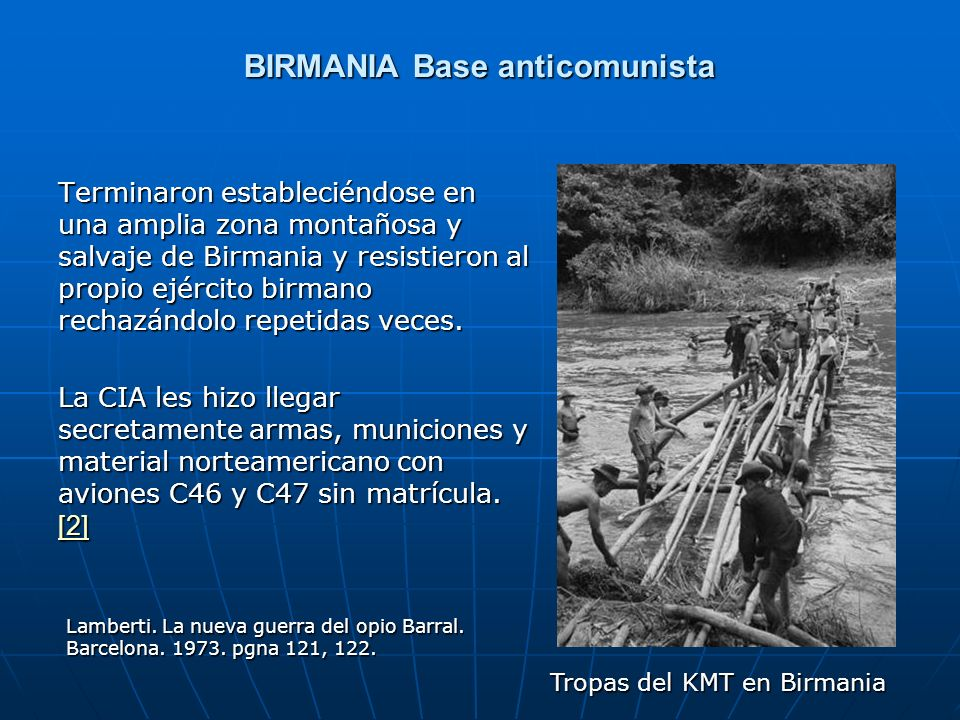 BIRMANIA Base anticomunista