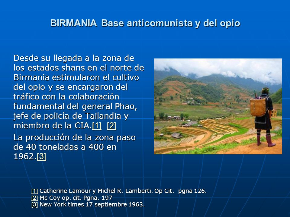 BIRMANIA Base anticomunista y del opio