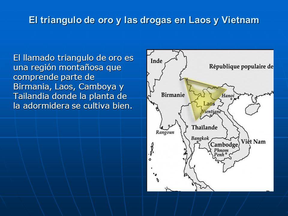 El triangulo de oro y las drogas en Laos y Vietnam