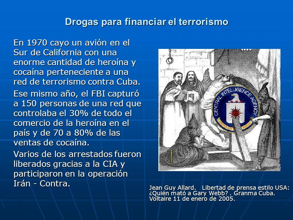Drogas para financiar el terrorismo