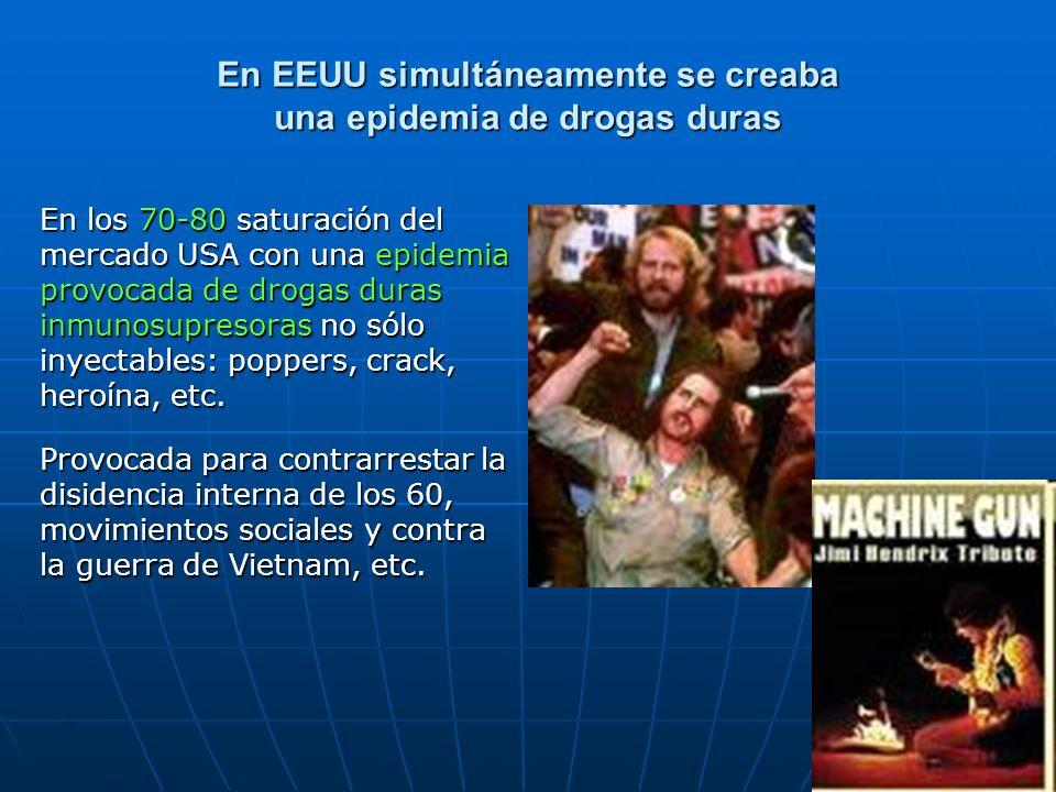 En EEUU simultáneamente se creaba una epidemia de drogas duras