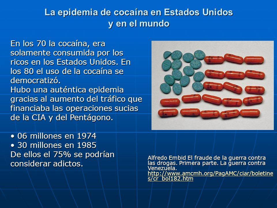 La epidemia de cocaína en Estados Unidos y en el mundo