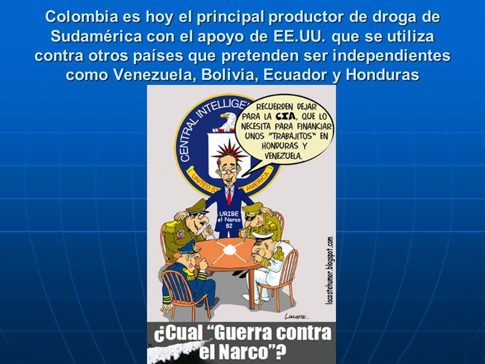 Colombia es hoy el principal productor de droga de Sudamérica con el apoyo de EE.UU.