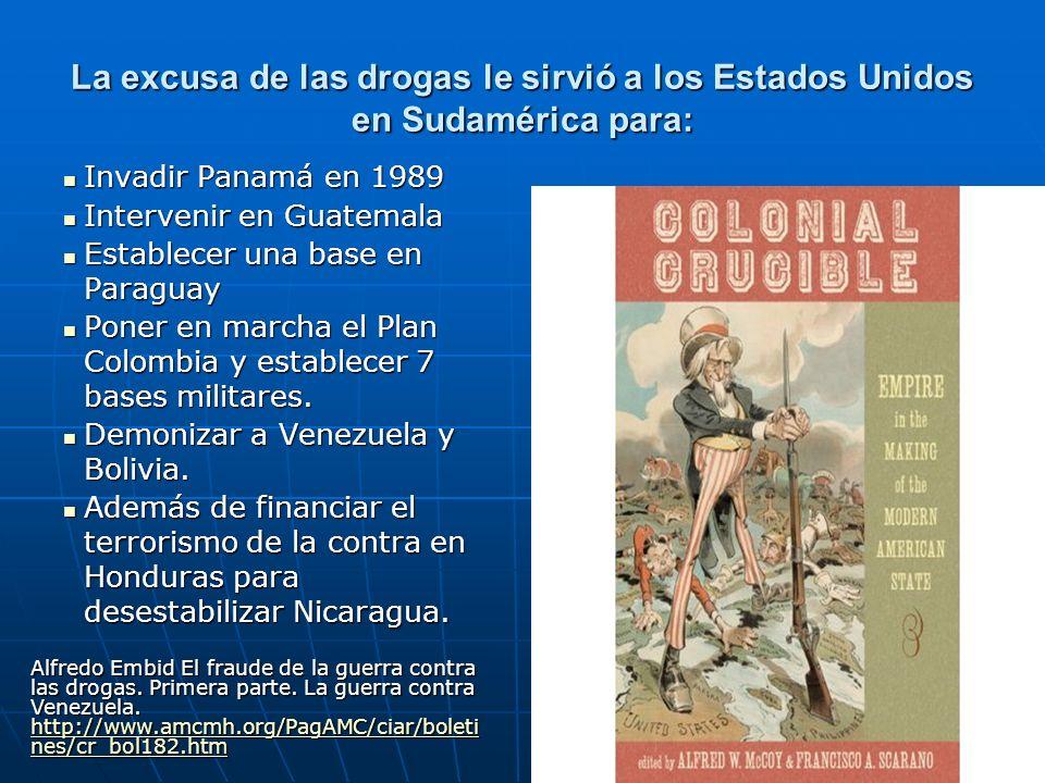La excusa de las drogas le sirvió a los Estados Unidos en Sudamérica para: