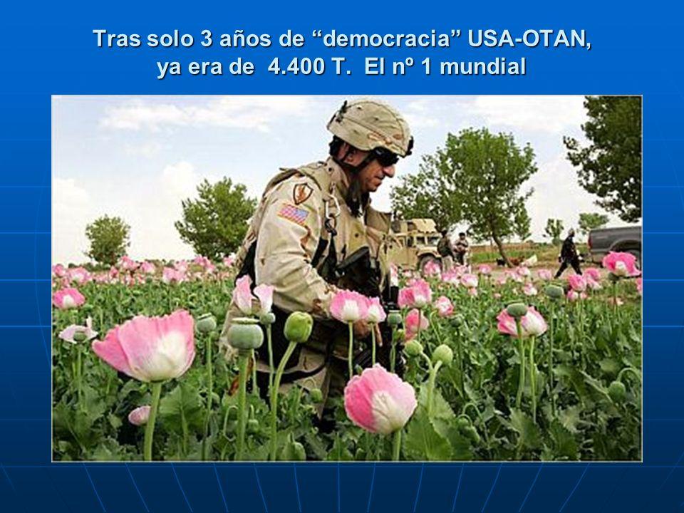 Tras solo 3 años de democracia USA-OTAN, ya era de 4. 400 T