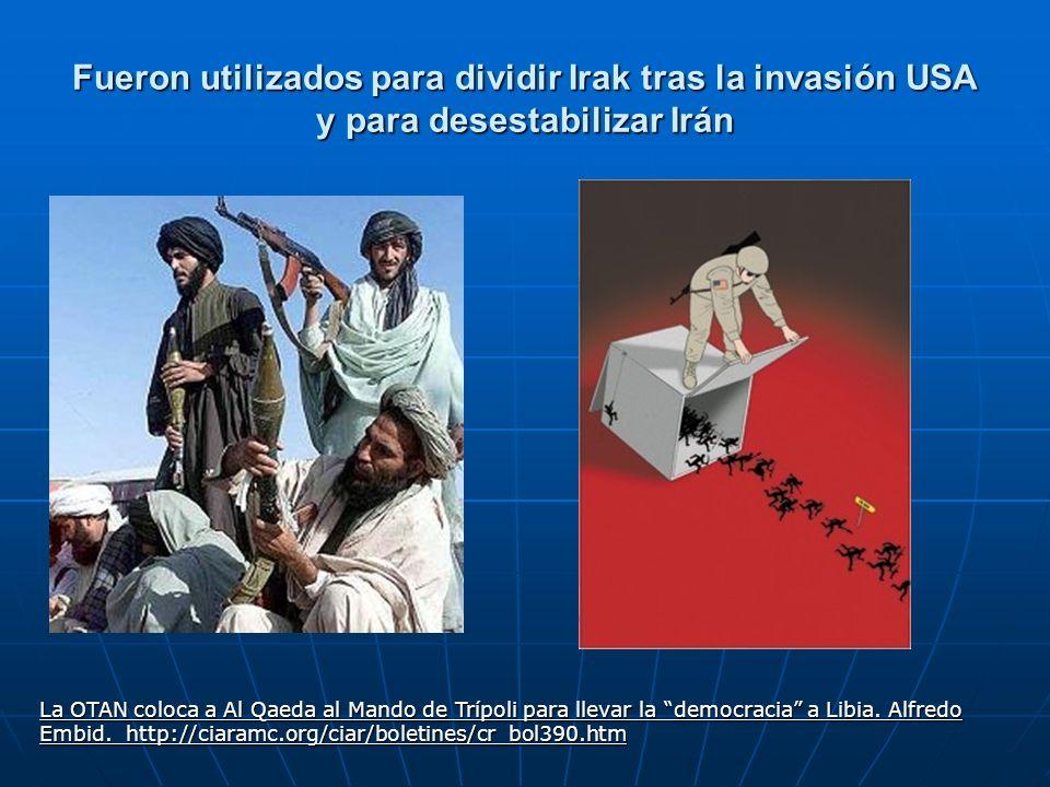 Fueron utilizados para dividir Irak tras la invasión USA y para desestabilizar Irán