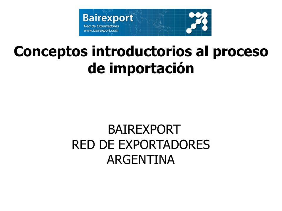 Conceptos introductorios al proceso de importación