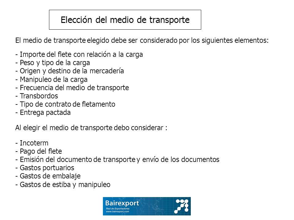 Elección del medio de transporte