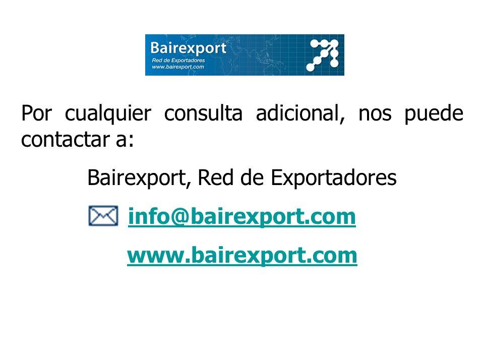 Bairexport, Red de Exportadores