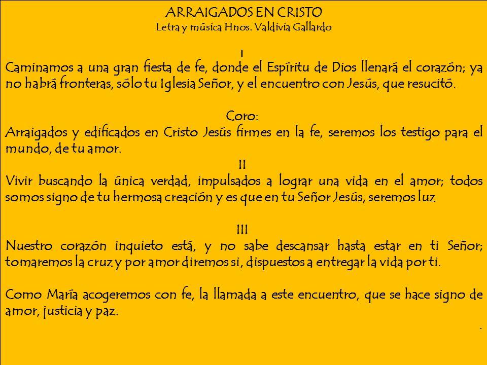 Letra y música Hnos. Valdivia Gallardo
