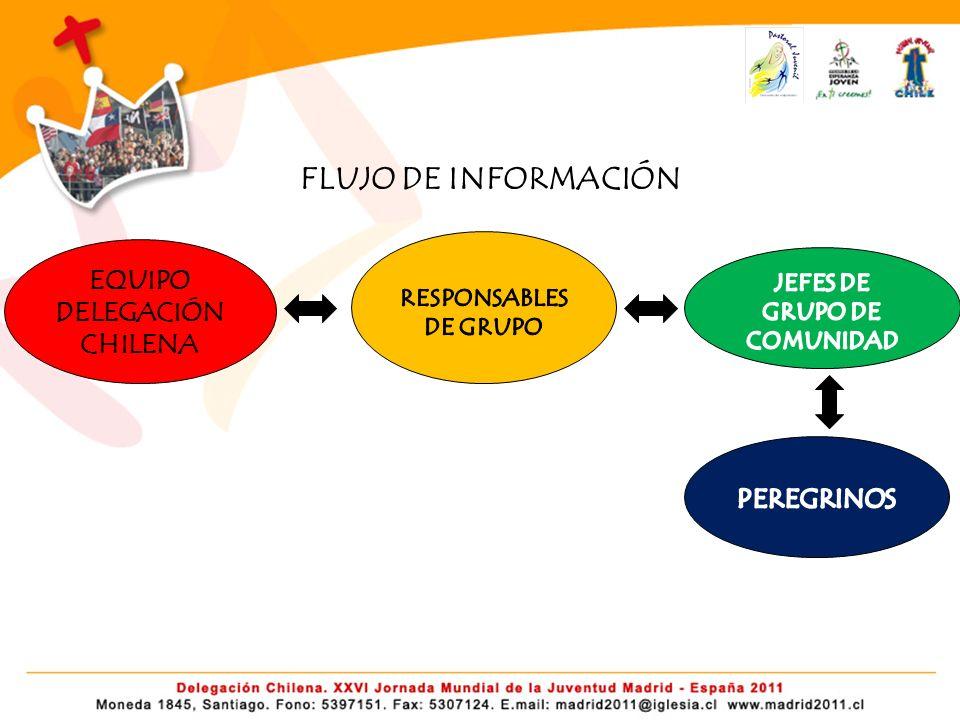 FLUJO DE INFORMACIÓN EQUIPO DELEGACIÓN CHILENA PEREGRINOS