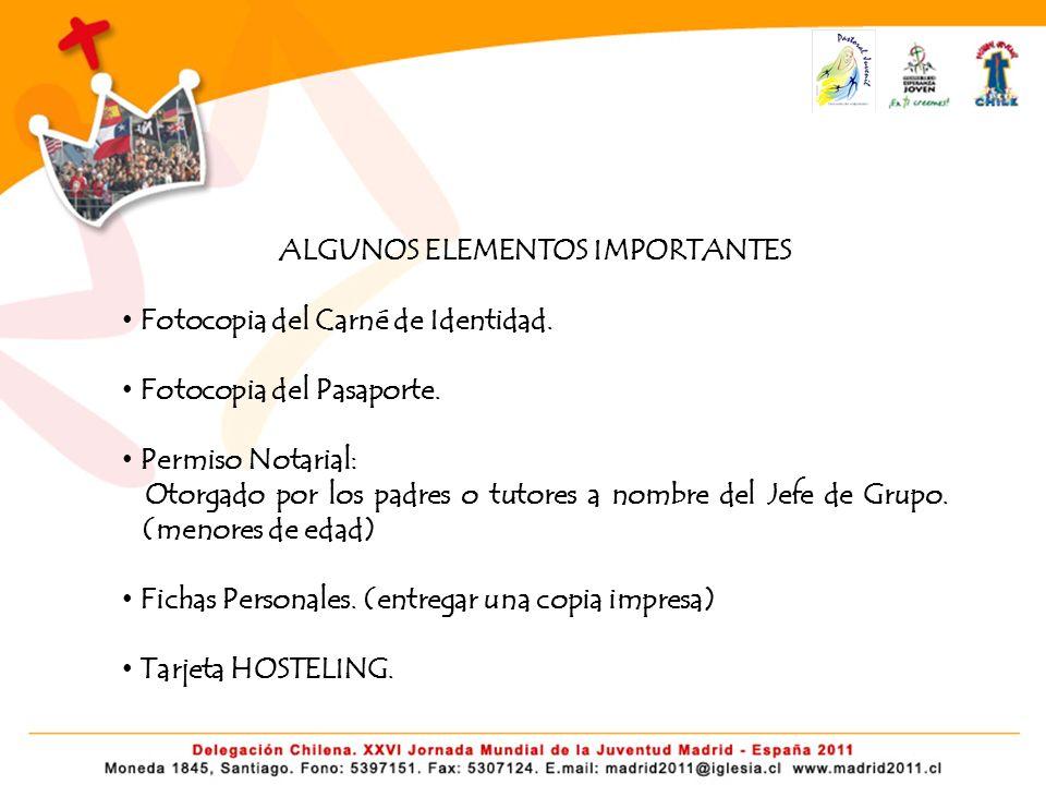 ALGUNOS ELEMENTOS IMPORTANTES