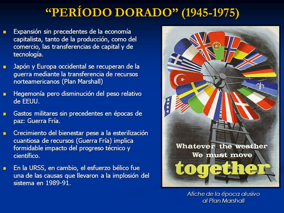 Afiche de la época alusivo al Plan Marshall