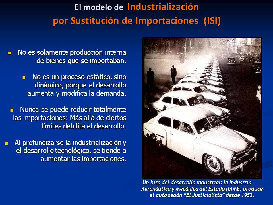 El modelo de Industrialización por Sustitución de Importaciones (ISI)