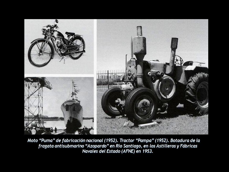 Moto Puma de fabricación nacional (1952). Tractor Pampa (1952)