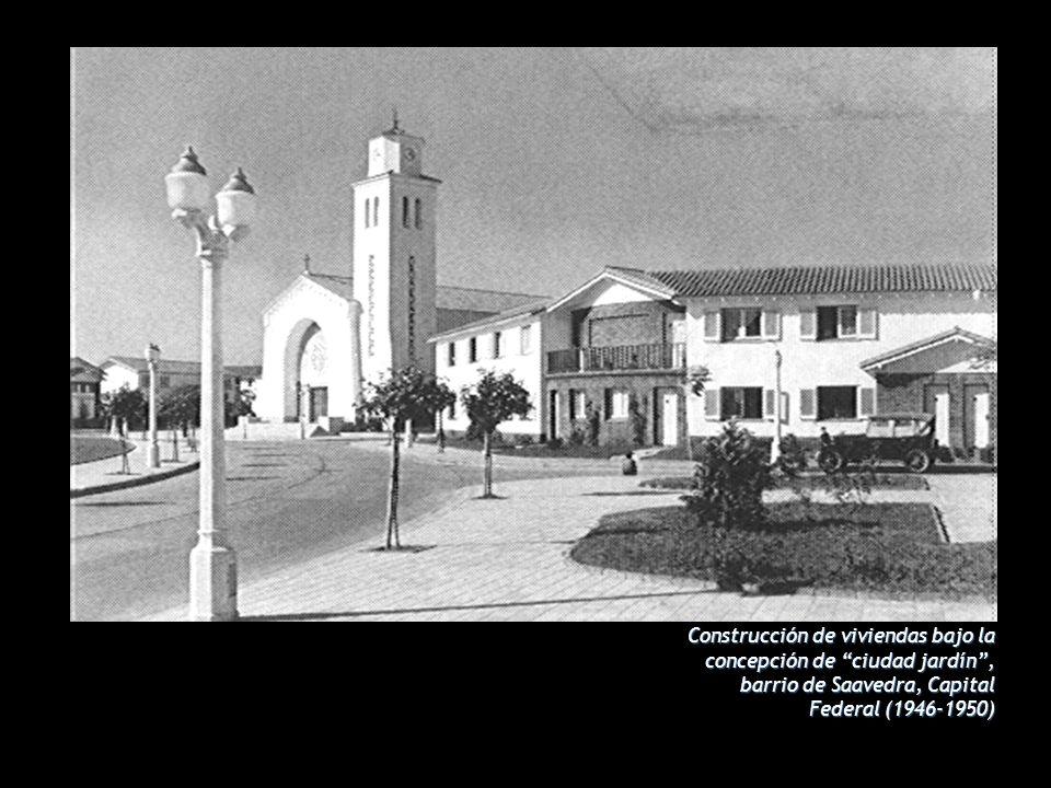 Construcción de viviendas bajo la concepción de ciudad jardín , barrio de Saavedra, Capital Federal (1946-1950)