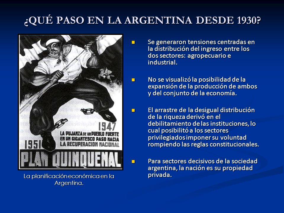 ¿QUÉ PASO EN LA ARGENTINA DESDE 1930