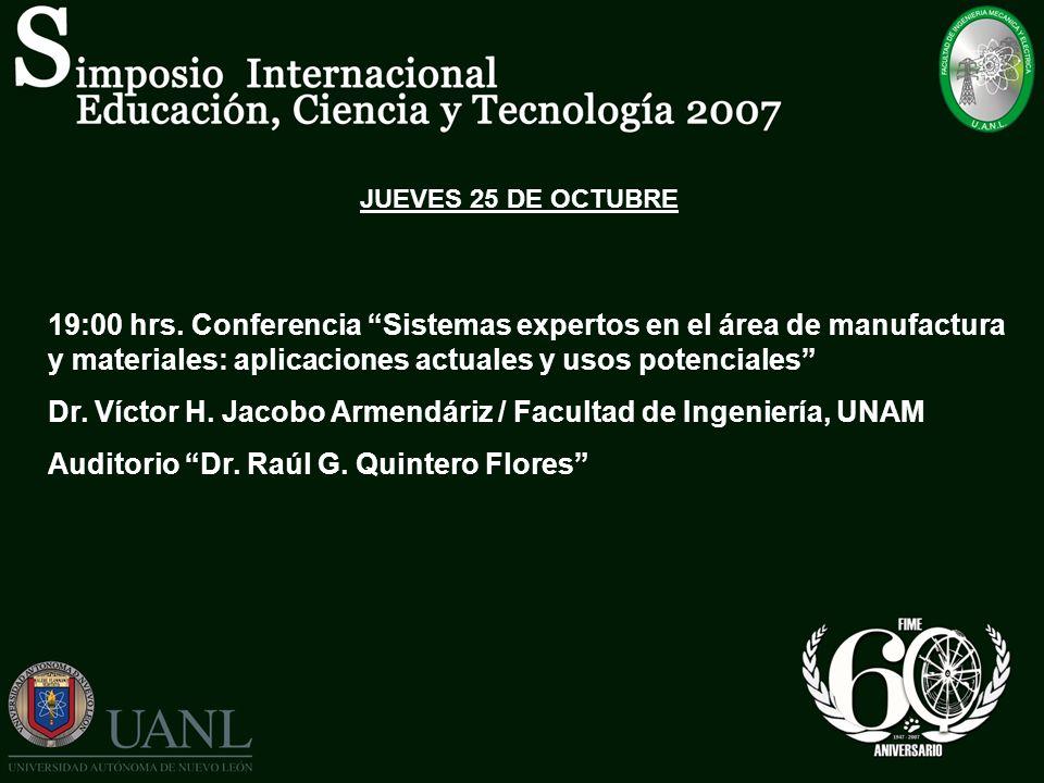 Dr. Víctor H. Jacobo Armendáriz / Facultad de Ingeniería, UNAM
