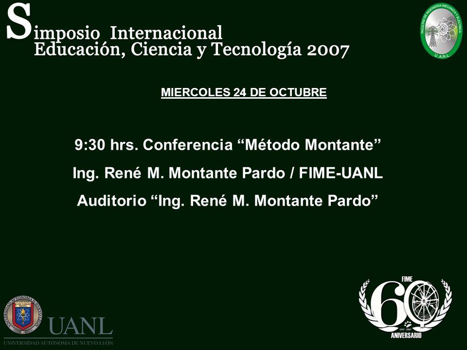 9:30 hrs. Conferencia Método Montante