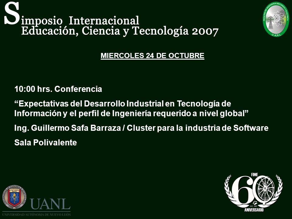Ing. Guillermo Safa Barraza / Cluster para la industria de Software