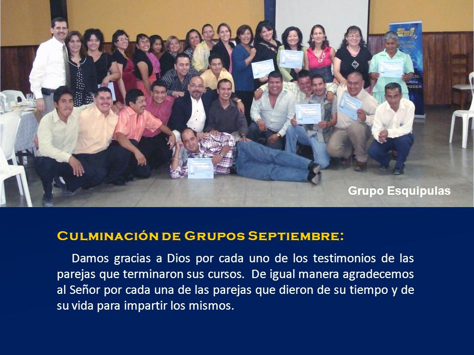 Culminación de Grupos Septiembre: