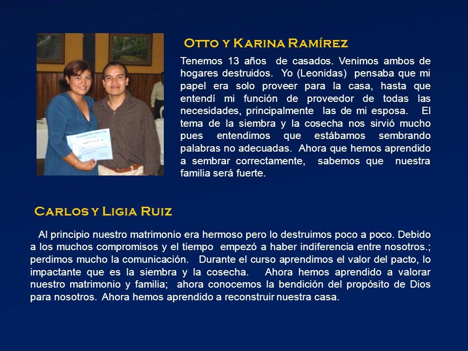 Otto y Karina Ramírez Carlos y Ligia Ruiz