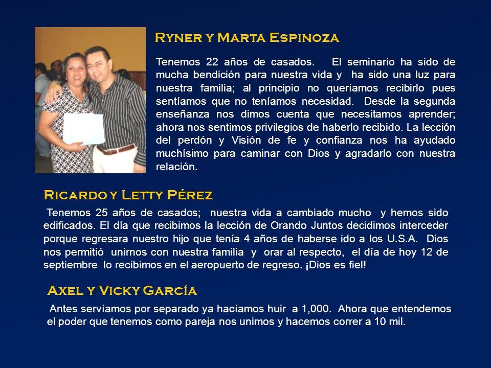Ryner y Marta Espinoza Ricardo y Letty Pérez Axel y Vicky García