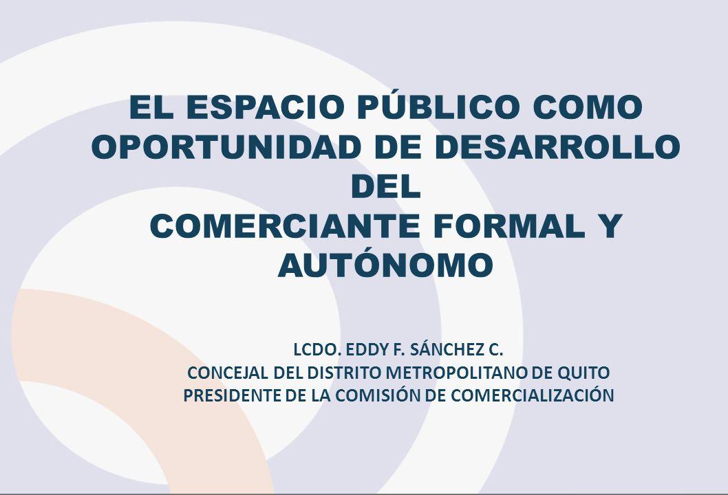 EL ESPACIO PÚBLICO COMO OPORTUNIDAD DE DESARROLLO DEL