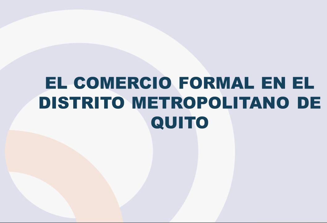 EL COMERCIO FORMAL EN EL DISTRITO METROPOLITANO DE QUITO