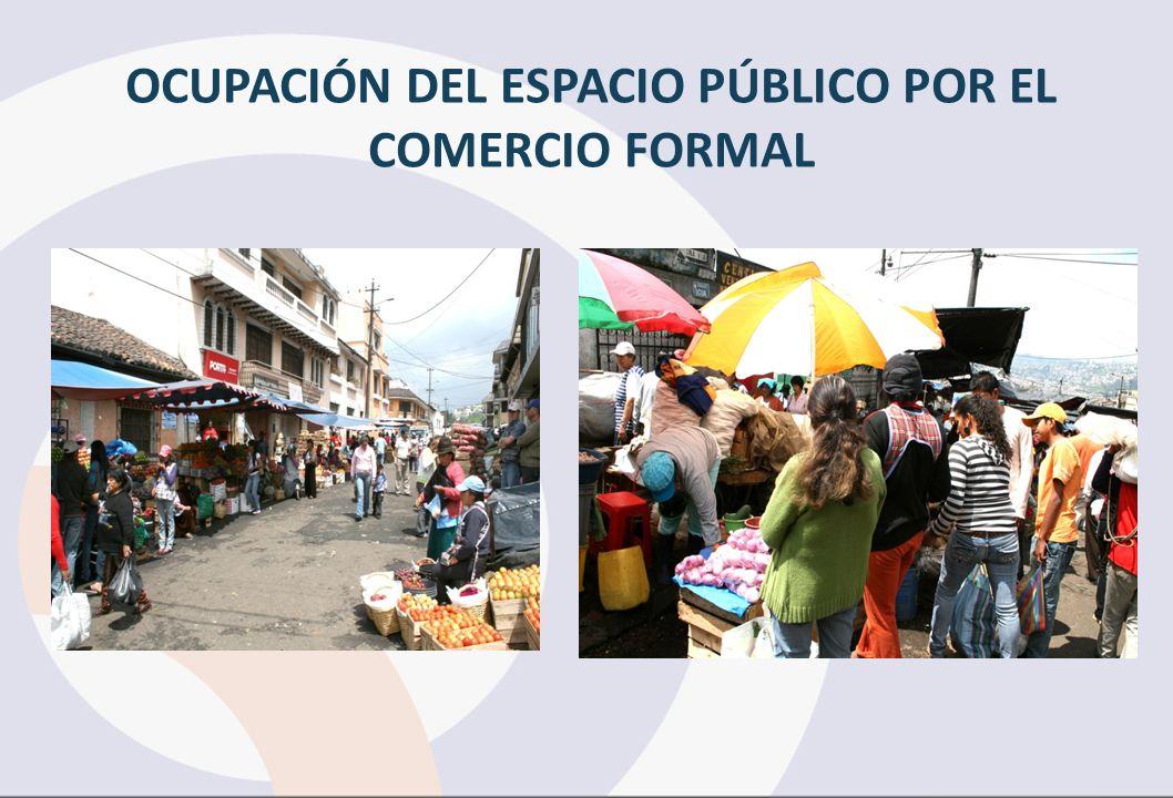 OCUPACIÓN DEL ESPACIO PÚBLICO POR EL COMERCIO FORMAL