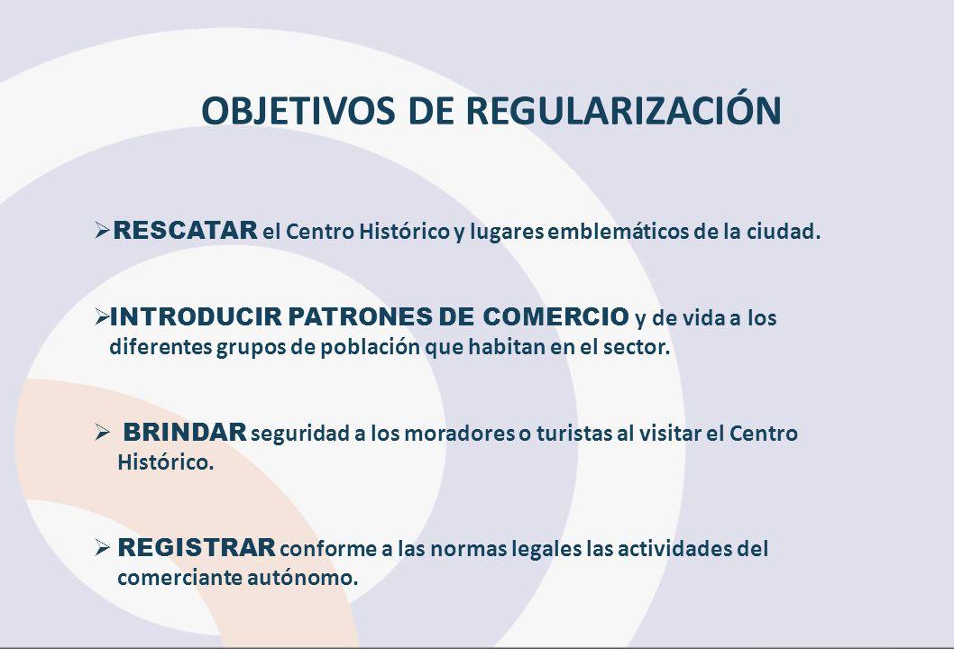 OBJETIVOS DE REGULARIZACIÓN