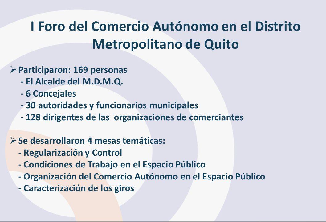 I Foro del Comercio Autónomo en el Distrito Metropolitano de Quito