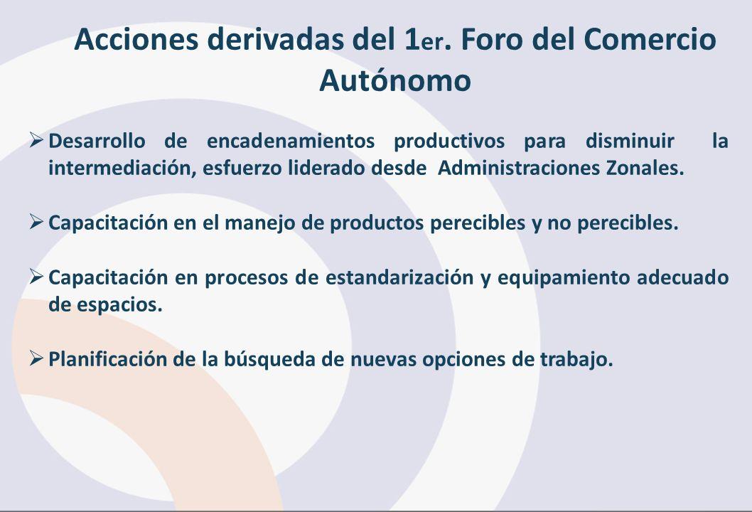 Acciones derivadas del 1er. Foro del Comercio Autónomo
