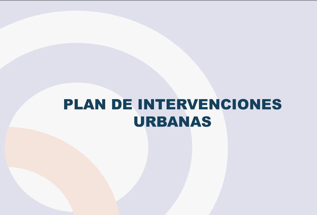 PLAN DE INTERVENCIONES URBANAS