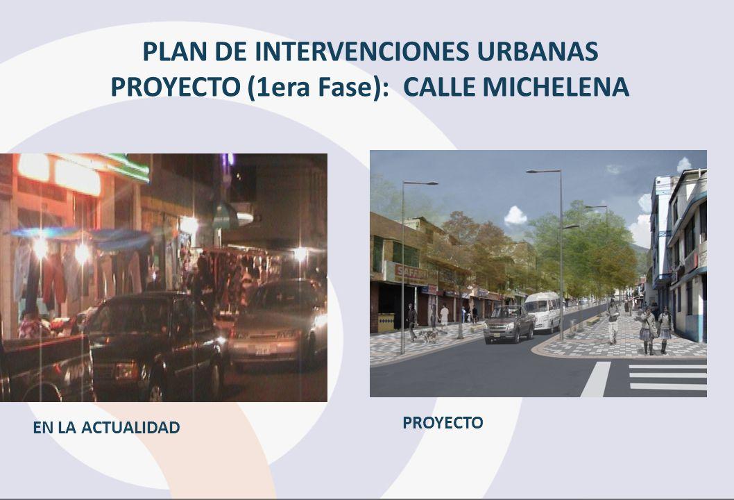 PLAN DE INTERVENCIONES URBANAS PROYECTO (1era Fase): CALLE MICHELENA