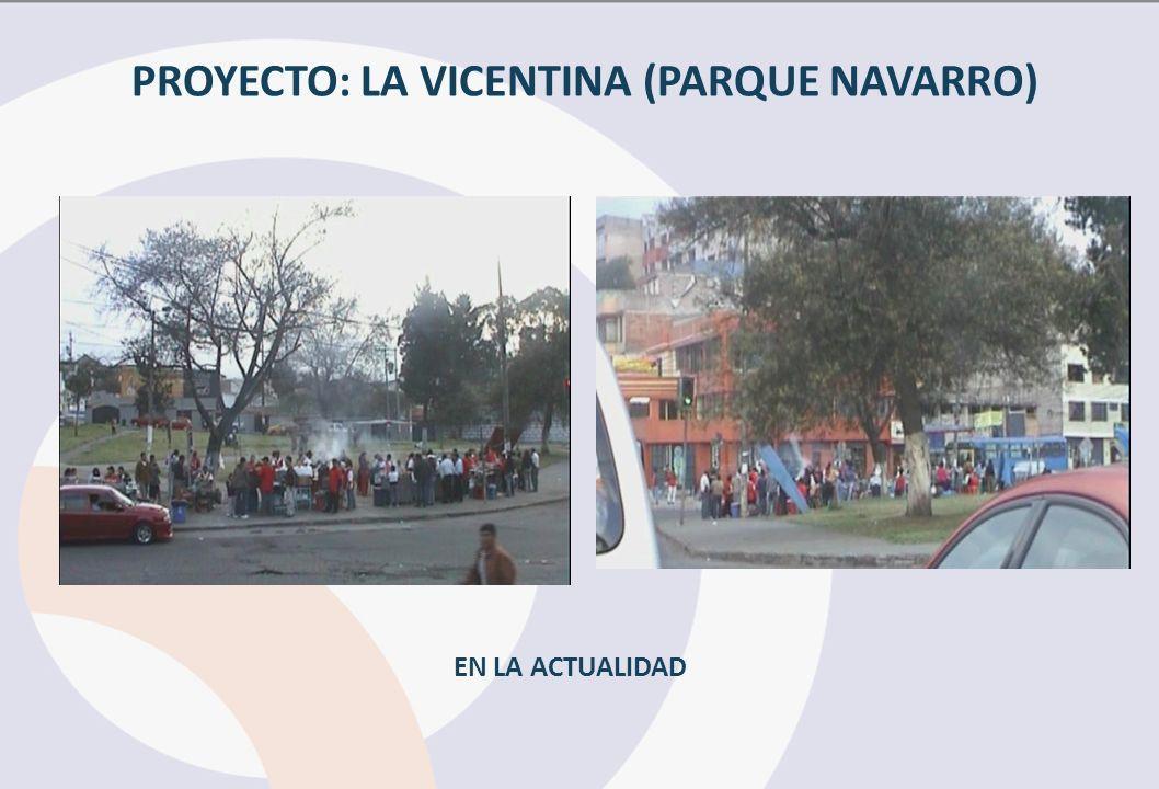 PROYECTO: LA VICENTINA (PARQUE NAVARRO)